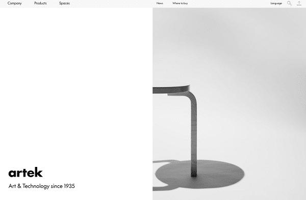 diseño con espacios en blanco